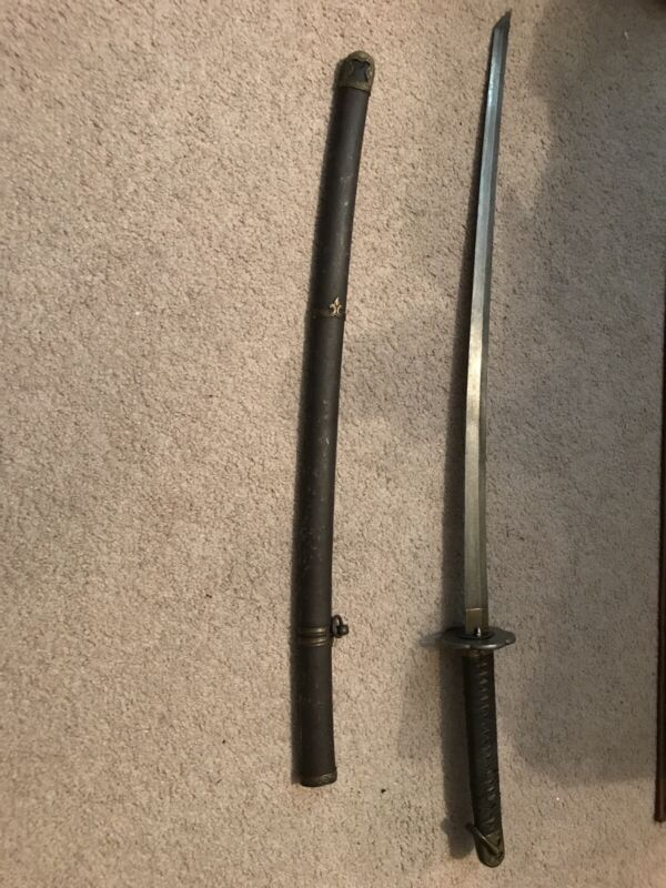 antique japanese samurai wakizashi katana sword