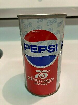 Vintage Pepsi Can red, white, blue. very clean, slight denting, man cave items.