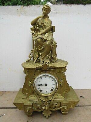 Seth Thomas & Bros. Figural Mantel Clock Antique