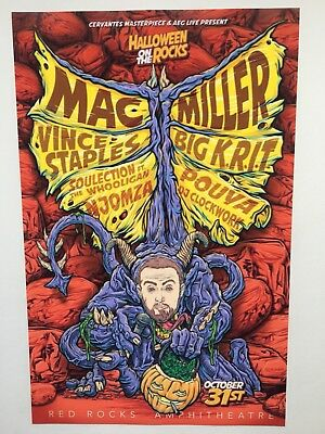 "Mac Miller 11x17 Halloween On The Rocks Tour Poster ""Morrison CO 2017"" (Mac Halloween)"
