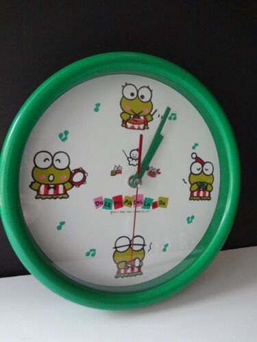 Vintage SANRIO KEROPPIi Frog Hello Kitty Wall Clock Works, Wall Hanging Clock