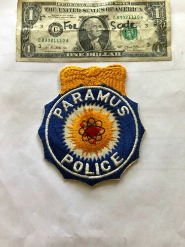 Paramus New Jersey Police Patch un-sewn Great Shape