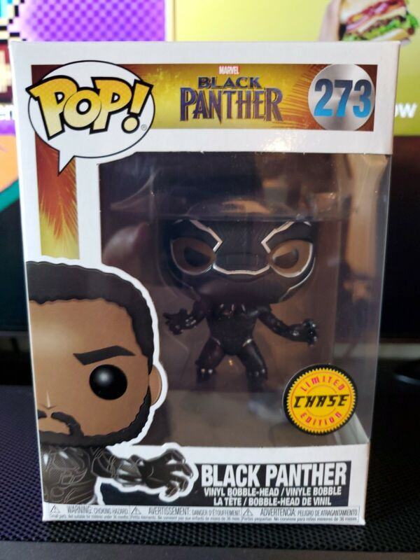 FUNKO POP MARVEL BLACK PANTHER LIMITED EDITION CHASE EXCLUSIVE #273