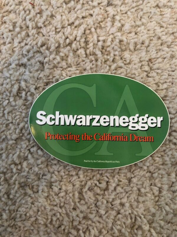 ARNOLD SCHWARZENEGGER STICKER GOVERNOR Campaign Political Election 2003/2006