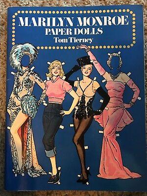 Vintage 1979 Marilyn Monroe Paper Dolls; Tom Tierney; 1st Edition;