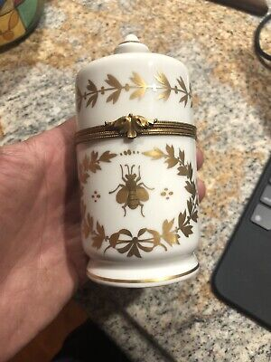rare Vintage signed Dunhill Cigarette porcelain tobacco jar humidor box Matches