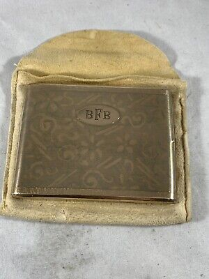 Vintage Cigarette Case with original Chamois Pouch Gold Filled