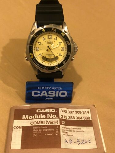 Rare Vintage Casio diver watch AD-520 (388) Japan