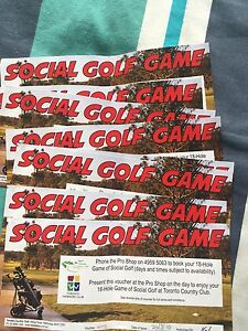 8 tickets for 18 holes at Toronto golf course Bonnells Bay Lake Macquarie Area Preview