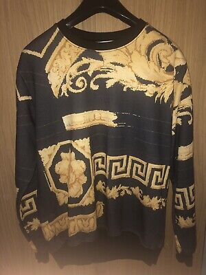 MENS LARGE VERSACE JUMPER SWEATER