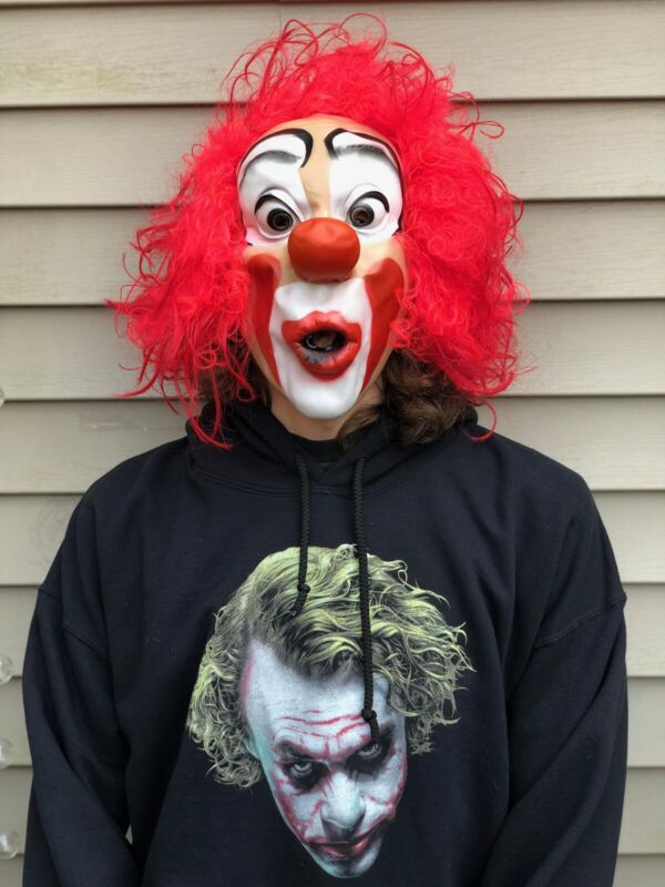 Cesar Clown Mask 1988 Whistling Rare Vintage Halloween Costume Preowned