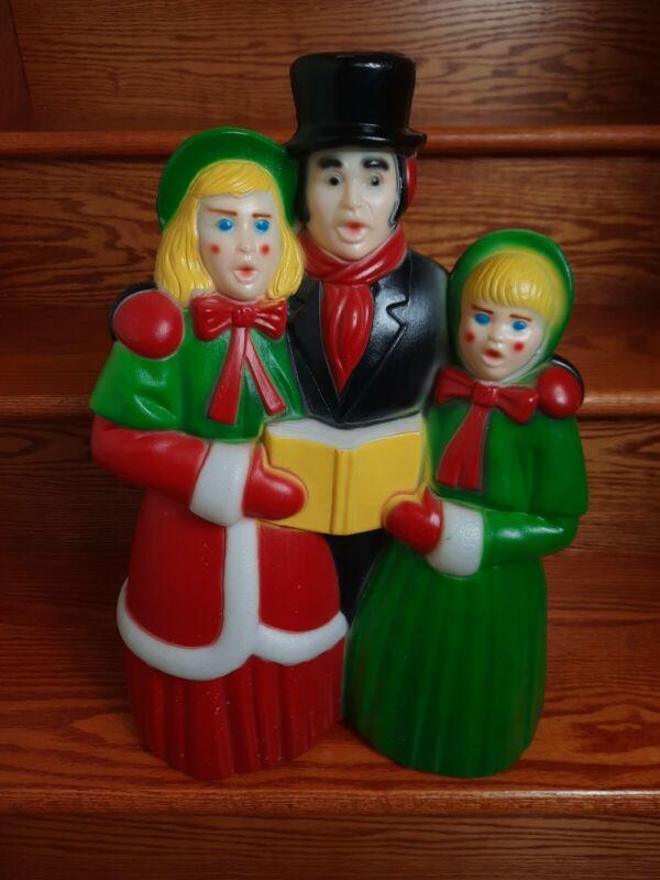 Vintage Empire Victorian Dickens Carolers Christmas Blow Mold NO LIGHT NO CORD