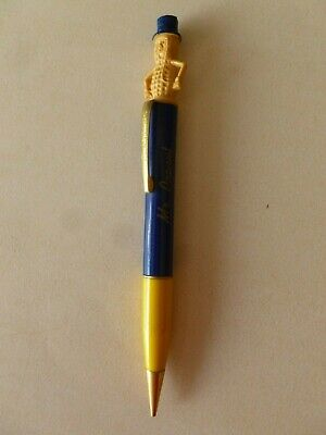 Vintage Planters Mr. Peanut Advertising Mechanical Pencil blue/yellow