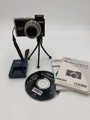 Canon PowerShot PowerShot SX200 IS 12.1MP Digital Camera - Black +4g (excellent)