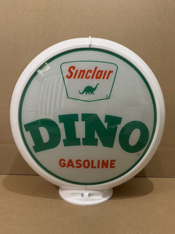 Vintage Original Sinclair Dino Gasoline Glass lens Sign Gas Pump Globe HC 1
