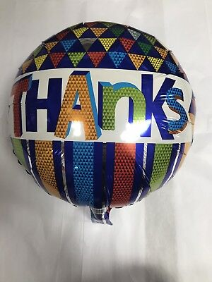 18' Round Foil Thanks Balloon Triangles Of Different Colors - Different Color Balloons