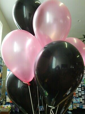 Pink Balloons, Black Balloons, Wedding Shower Decorations Birthday Party (Pink And Black Balloon Decorations)