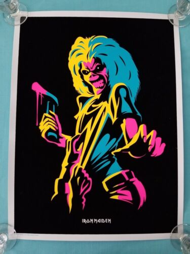 """Iron Maiden   """"Killers"""" Psychedelic / Blacklight Poster   New 2017"""