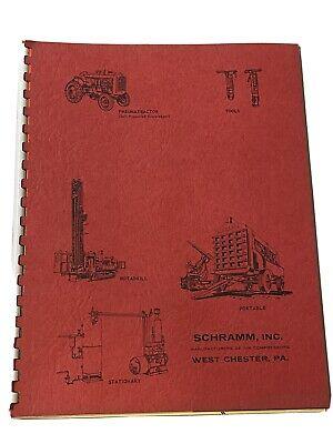 1964 Schramm Dealer Sales Brochure Book Rotadrill Well Drilling Rigs 24 Pgs
