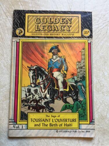 X XRARE Toussaint L'Ouvrrture birth of Haiti Golden Legacy vol1 Comic Book 1967
