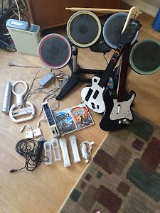 Selling wii and rockband and guitar hero