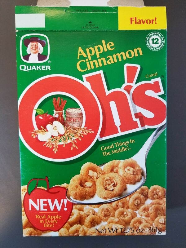 CEREAL BOX :  Quaker   APPLE CINNAMON OH