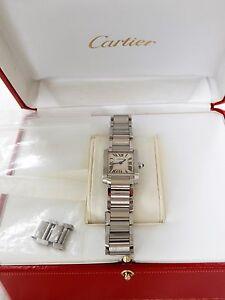 Cartier Tank Francaise Stainless Steel Small Model Quartz wrist watch