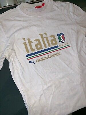 7b33eeb89 PUMA White Italia Soccer National Team Long Sleeve Mens Size S