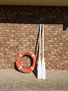 LIFE BUOY RING & TIMBER OARS Birkdale Redland Area Preview