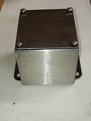 4 X 4 X 4 Stainless Steel Electrical Enclosure Box-nema-4x E-box-s444sgn4x