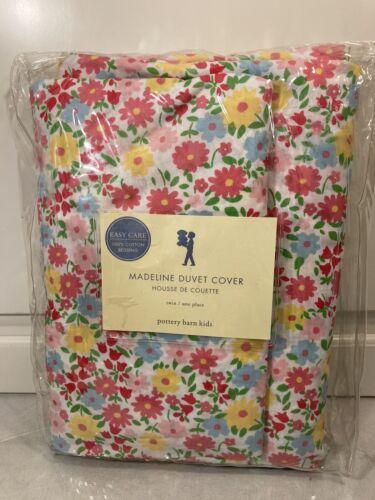 Pottery Barn Kids Madeline Duvet Twin Pink Blue Floral NWOT - $36.99