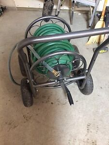 1 year old hose reel and hose