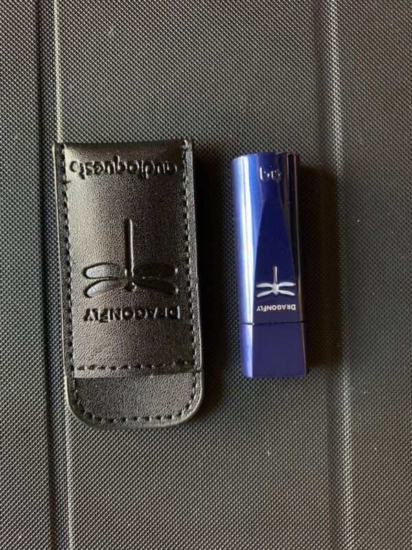 AudioQuest Bundle, Dragonfly cobalt blue   With Leather Cover