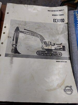 Volvo Ec300d Excavator Operators Manual