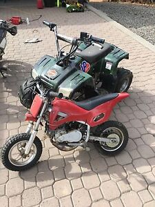 Kids dirt bike and quad for sale