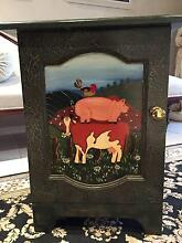 Unique Hand Painted Cow / Pig / Chicken One Door Cupboard Parkinson Brisbane South West Preview
