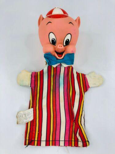 Vintage Mattel Porky Pig Hand Puppet 1964