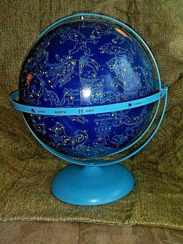 "Vintage Mid-Century RAND MCNALLY 12"" Oliver Lee Celestial Globe>Zodiac Astronomy"