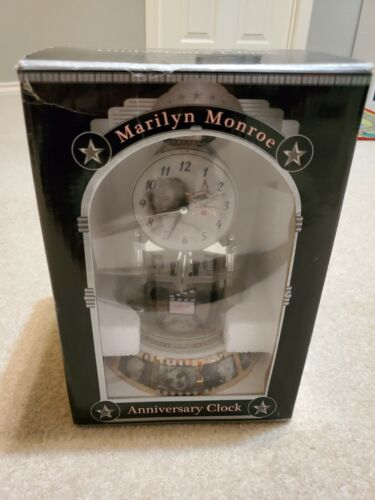 Marilyn Monroe ~Anniversary Clock~ Glass Dome Time Piece