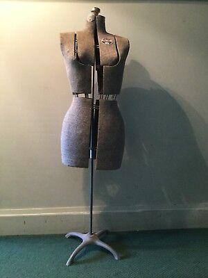 Vintage Acme L M Size A Adjustable Dress Form Mannequin Adjustable Metal Stand
