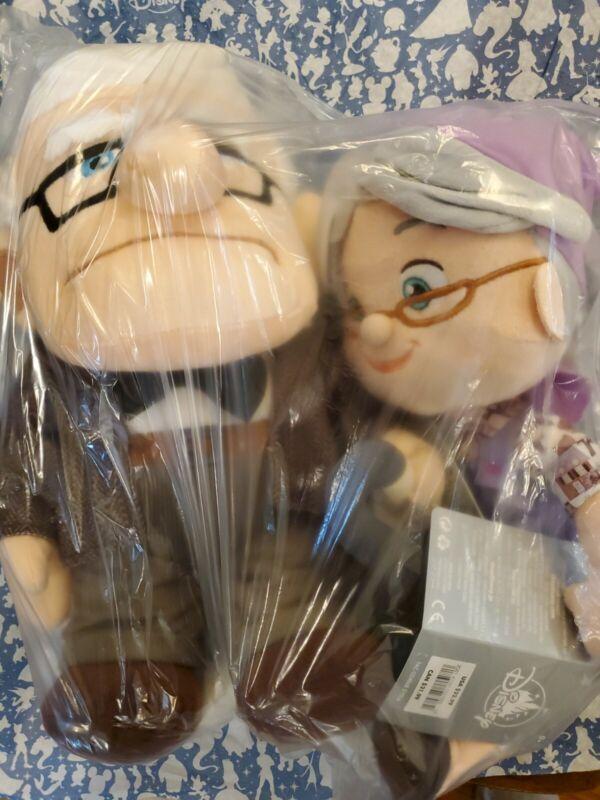 "Disney Pixar Up Carl Fredricksen And Ellie Plush Medium 14"" New with Tags"