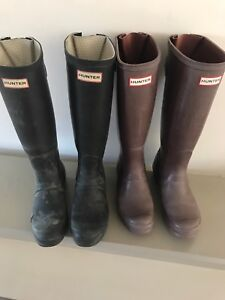 Hunter Boots - 2 pairs- size 7
