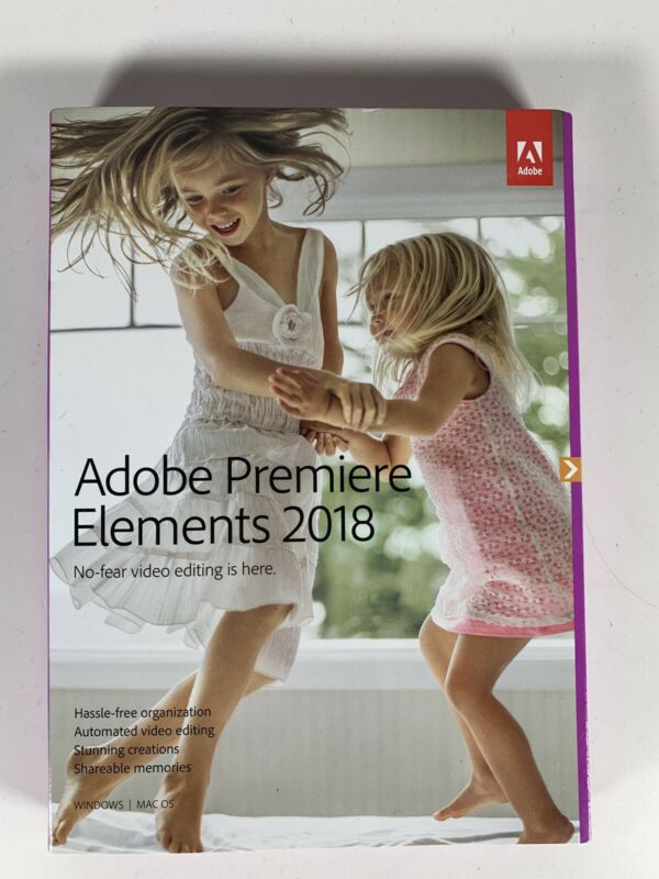 Adobe Premiere Elements 2018 Video Editing Software - NIB