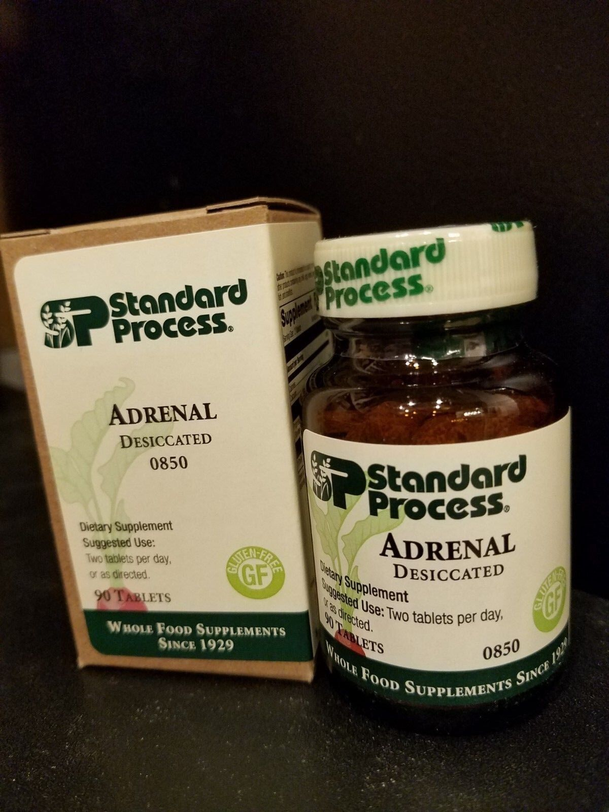 Standard Process Adrenal Desiccated 90 tabs, FRESH EXPIRATION, Fast Shipping