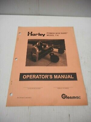 Harley Power Box Rake Model T-6 Operators Manual Pn P970612