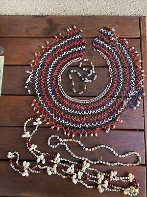 Old Papua New Guinea Shell and Bead Jewellery Necklaces