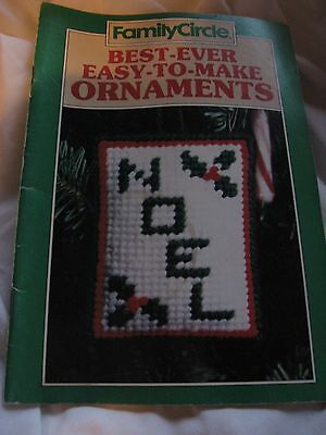 Family Circle Best Ever Easy To Make Ornaments Christmas Crochet Needlepoint