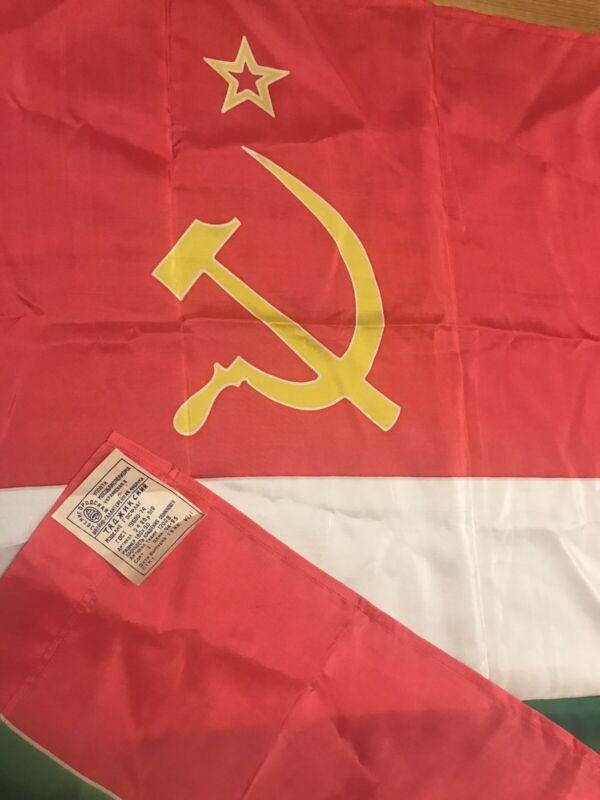Authentic Big Flag Tajikistan Tajik Soviet Socialist Republic USSR Vintage 1985