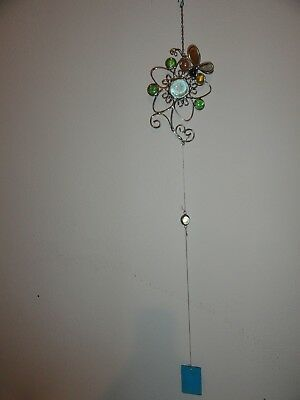 STAINED GLASS FLOWER/BUTTERFLY WIND CHIMES-6
