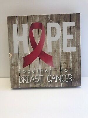 Breast Cancer Awareness Ribbon Shadow Box Photo Picture Hope lot of 1 box 8